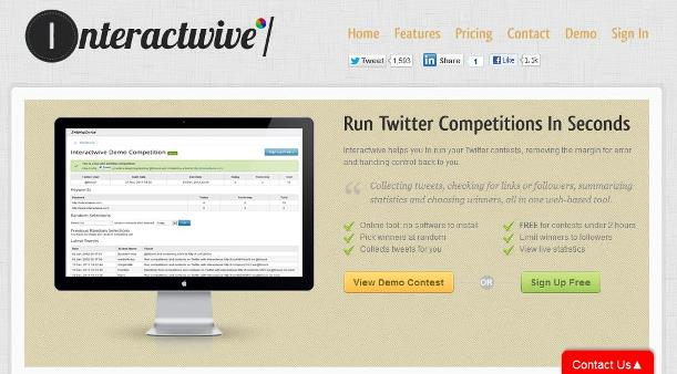 Interactwive Twitter Competitions