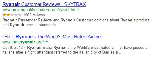 Ryanair SERP