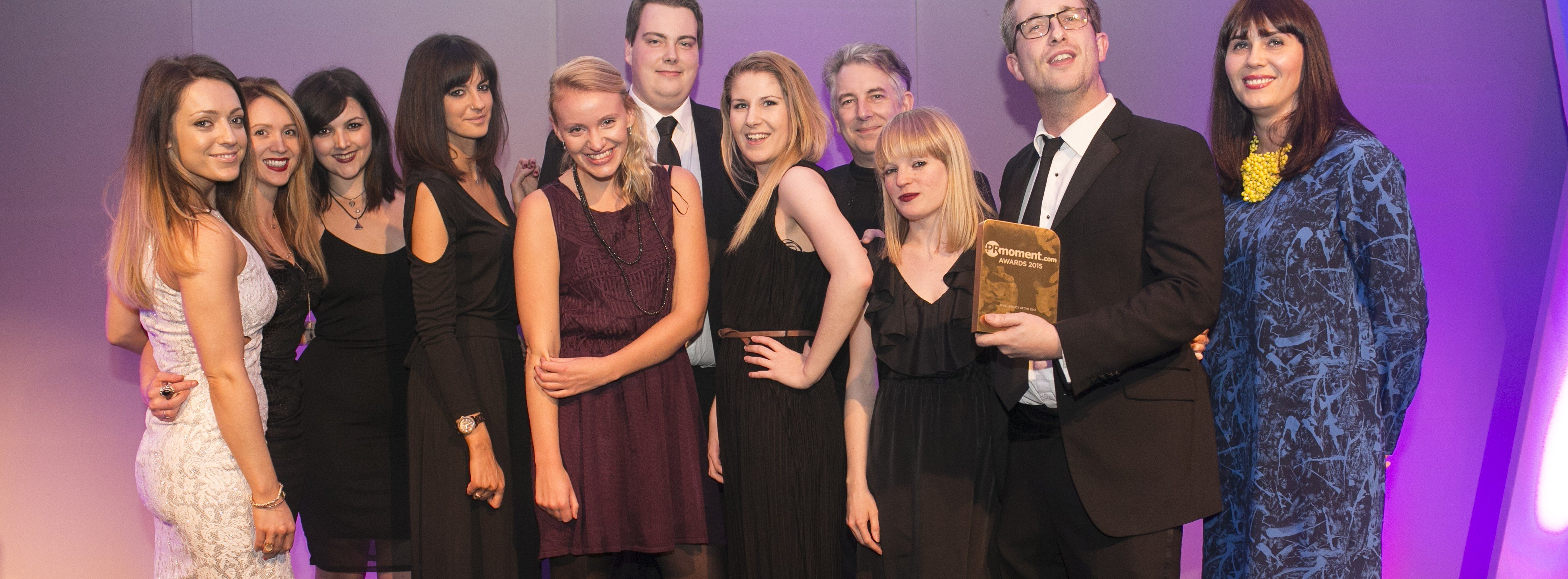 PR Agency One winning the Small Agency of the Year Award