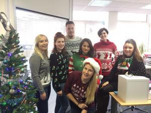 Christmas jumper day at PR Agency One