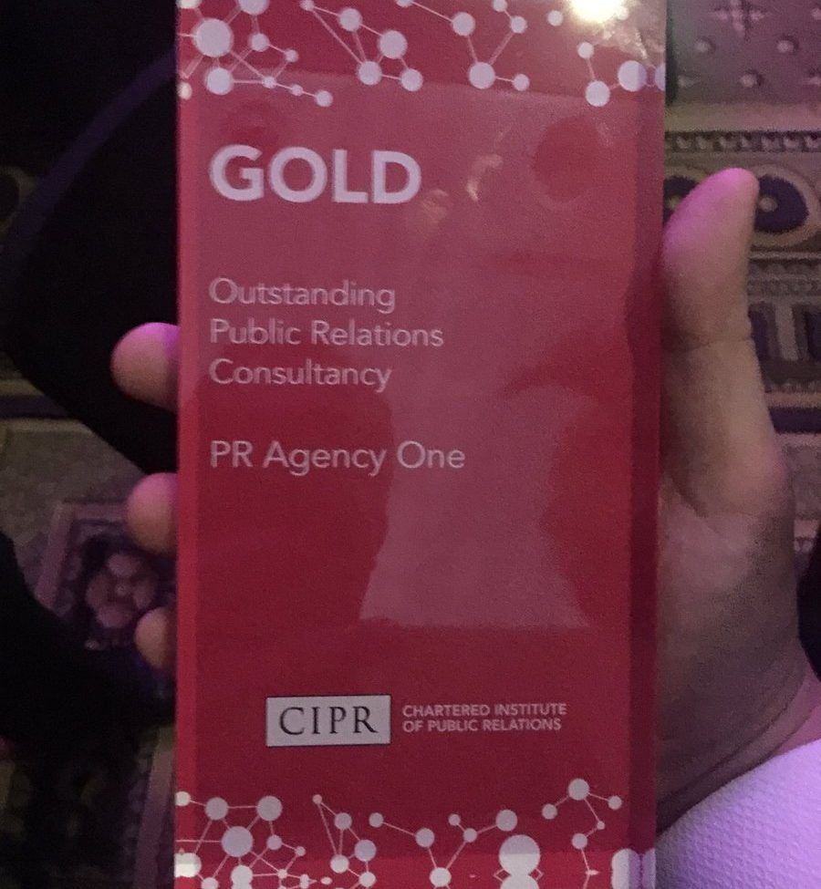Gold Award outstanding Public relations consultancy