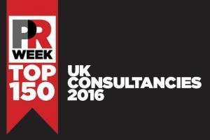 pr week top 150 UK PR consultancy