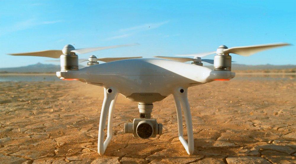 Drone in the desert