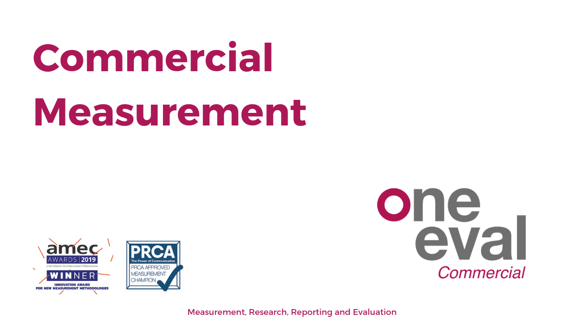 OneEval Commercial Measurement and pr evaluation tools